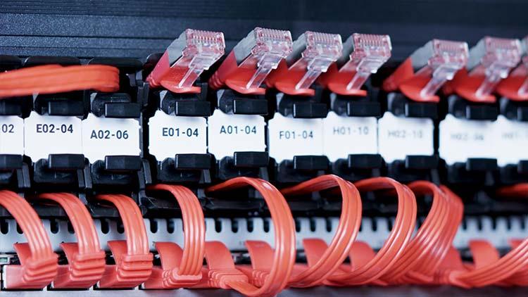Unique flat ethernet cable
