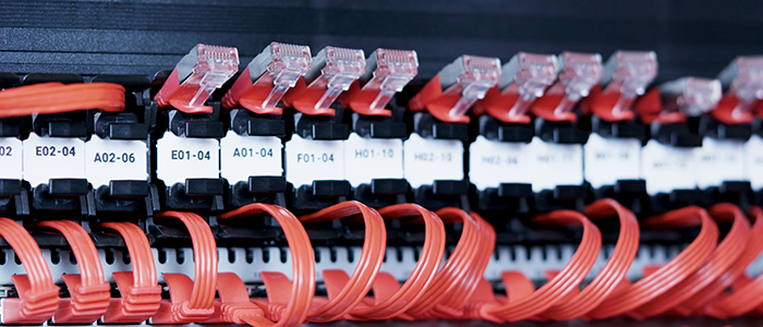 patch cable network rack